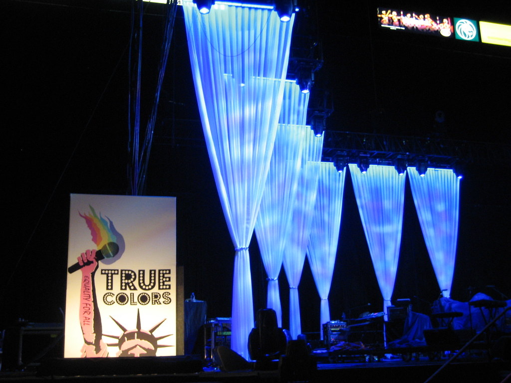 True Colors Concert Set Design | These sheer voile stage ...