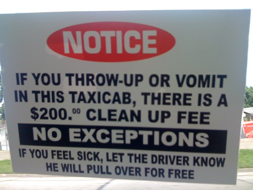 Warning in a St Louis Taxi | by TravelCommons