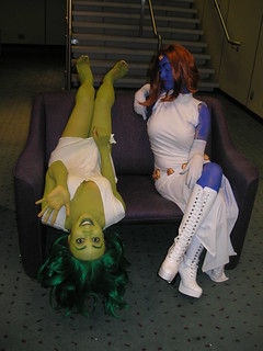 She-Hulk and Mystique from Marvel Comics | by Jason S Toronto