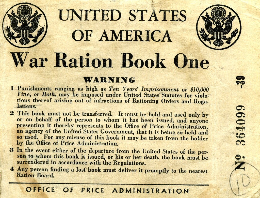 Image result for items rationed or unavailable during WWII