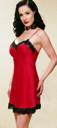 Dita in a Red Slip | S... Dita Von Teese