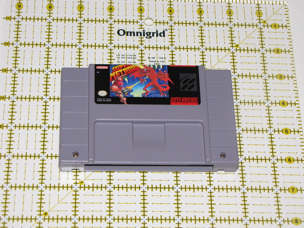 Super Nintendo Cartridge Pictured Super Metroid The