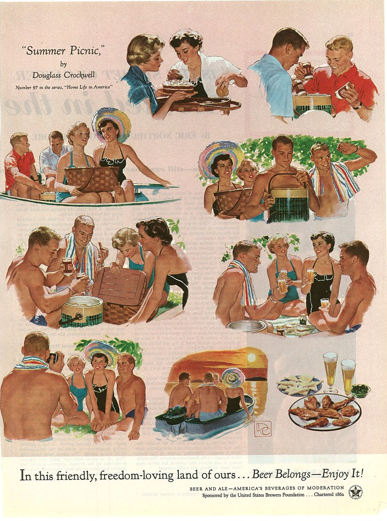 097. Summer Picnic by Douglass Crockwell, 1954