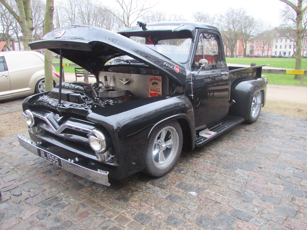 Ford F 100 V8 Iil1955 A 1955 Pick Up Truck Flickr F100 On 20 Inch Wheels By Andrew 28i