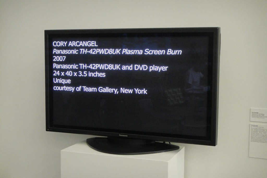 Cory Arcangel's Panasonic TH-42PWD8UK Plasma Screen Burn a ...