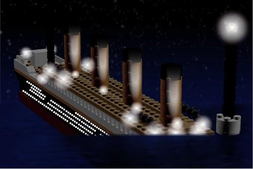 Lego Titanic Sinking | munozc71 | Flickr