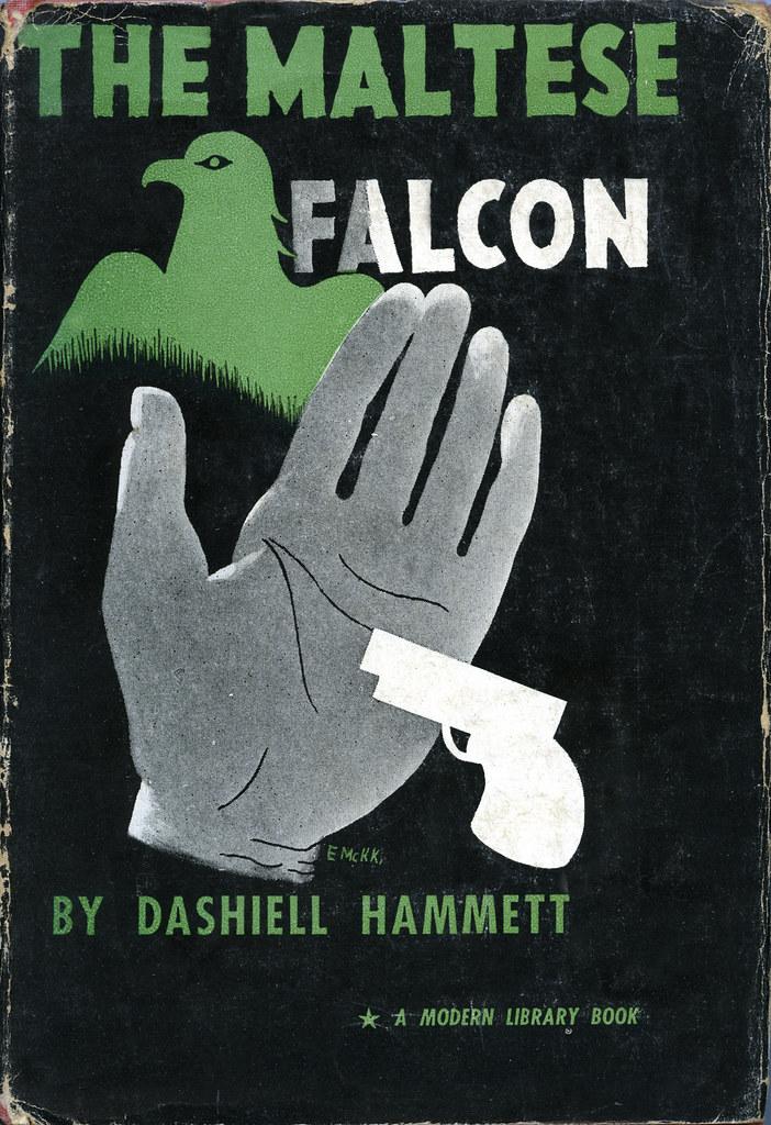 Modern Book Cover Ups : The maltese falcon designed by e mcknight kauffer