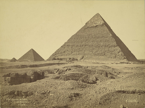 Giza. Pyramids of Khafre and Menkaure (Chefren and Mykerinus) | by Cornell University Library
