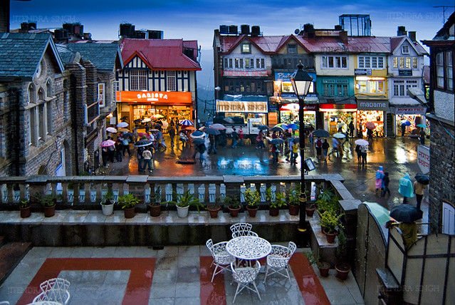 Mall Road Shimla India Mall Road Is The Main Street In