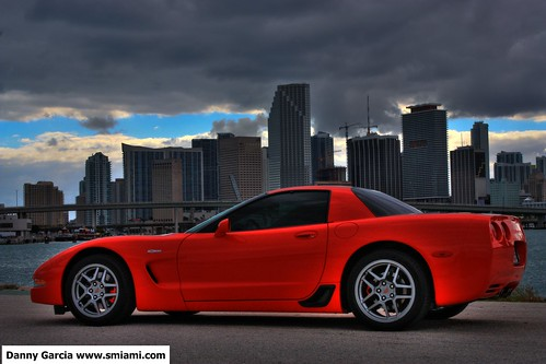Corvette Z06 in Downtown Miami with storm brewing HDR | by dgmiami