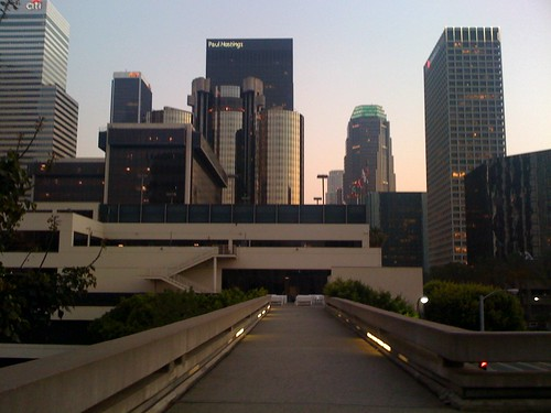 Pedestrian Footbridge To Los Angeles World Trade Center W