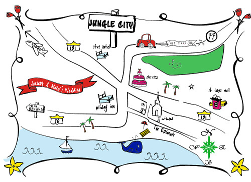 Wedding Invitation Map Maker: I Made This Homemade Wedding Map