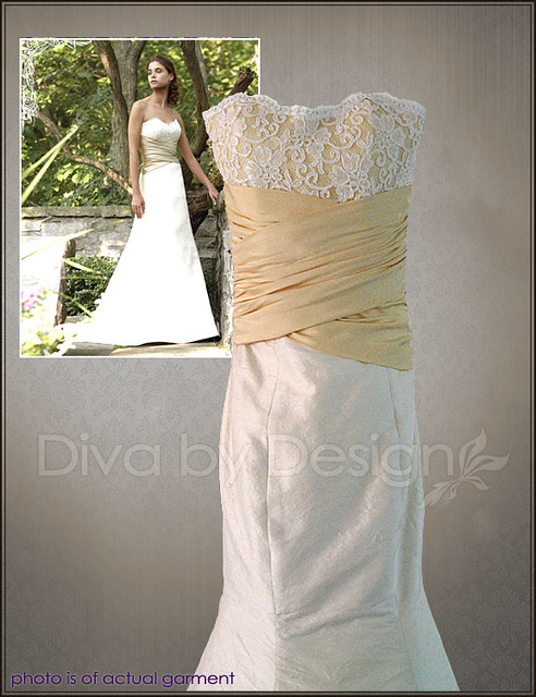 2 Tone Wedding Gowns : Two tone bridal gowns colorful wedding dresses jh