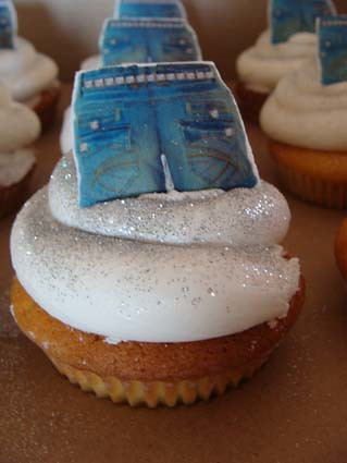 Denim And Diamonds Cupcake Made For A Charity Event
