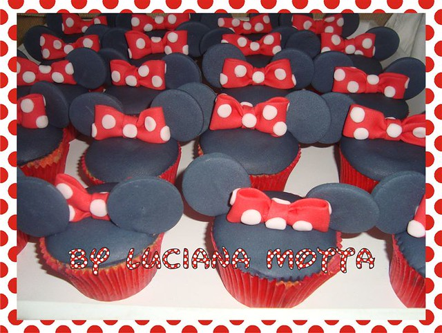 cupcakes da minnie minnie mouse cupcakes luciana motta flickr
