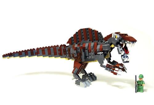Смотреть как сделать динозавра из лего