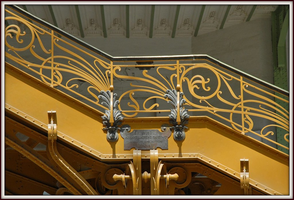 d tail de l 39 escalier d 39 honneur art nouveau du grand palais flickr. Black Bedroom Furniture Sets. Home Design Ideas