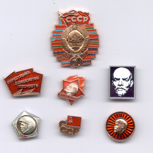 Pins collected from the USSR - Znachki | by Ray Cunningham