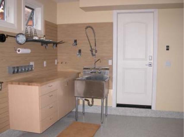 Work Bench With Garage Sink/pet Wash Area | Garage Cabinets,u2026 | Flickr