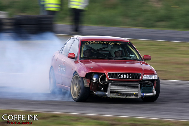 Drifting Audi A4 Kenneth Alm In His Audi A4 Drifting At