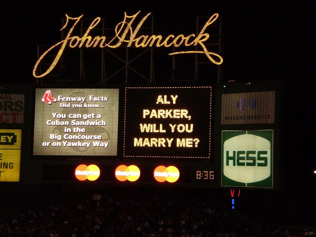 Fenway park marriage proposal