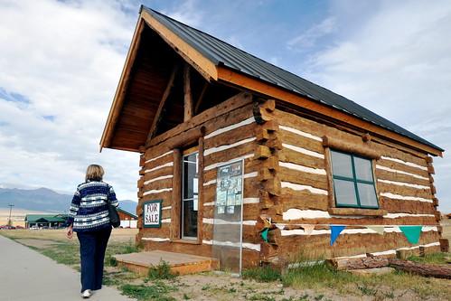 Simple log cabin westcliffe co m v jantzen flickr for Simple log homes