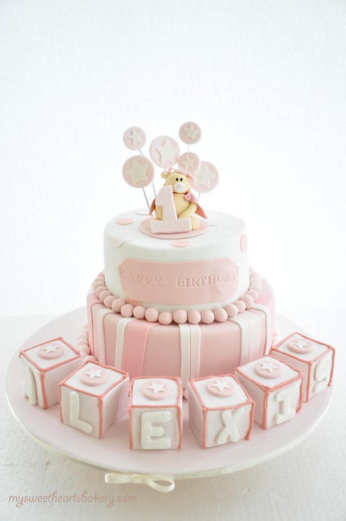 Pink Bear Birthday Cake Mysweetheartsbakery Flickr