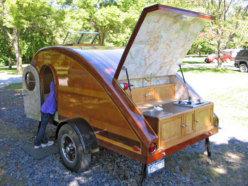 Homemade teardrop dwstucke flickr Make your own trailer house