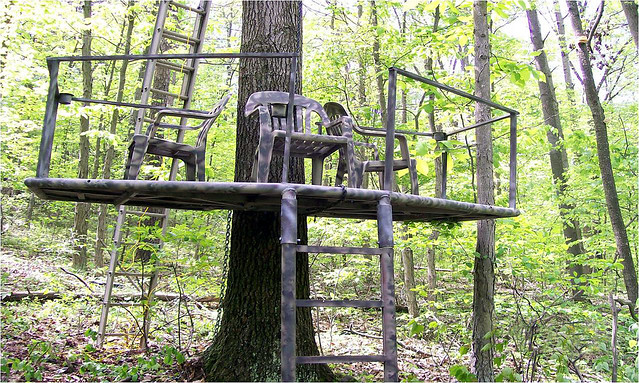 Three Person Tree Stand By M Perry It Is An All