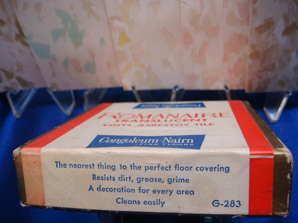 Congoleum Nairn Asbestos Tile Box Label Side 2 View Of