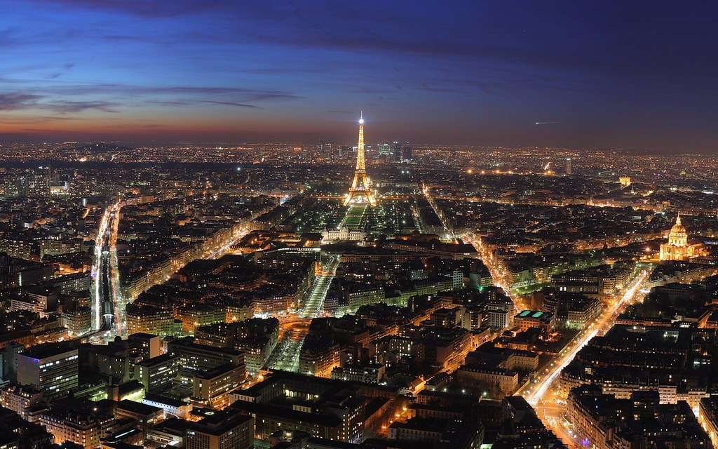 Skyline - Paris, France at night | View over Paris, at dusk,… | Flickr