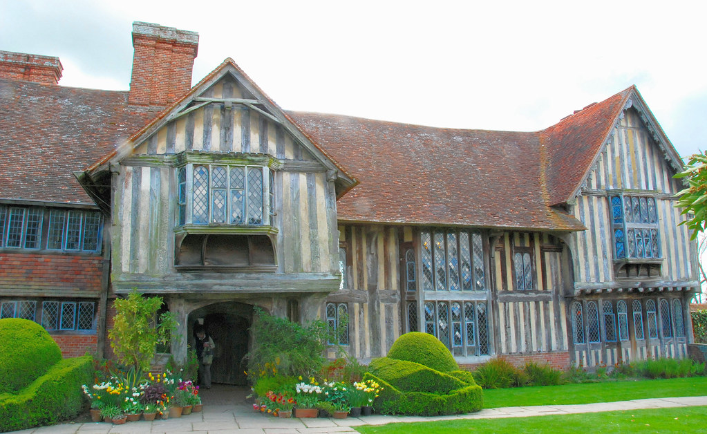 Fronting Up To The Manor House At Great Dixter The