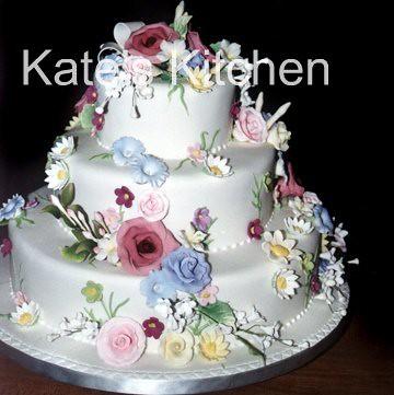 Tiered Happy Birthday Cake