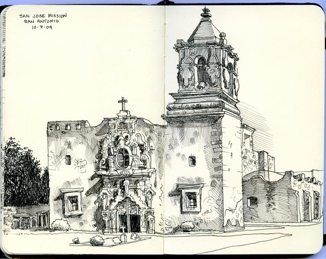 San Jose Mission San Antonio Tx From The Shade On A