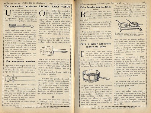 Almanaque Bertrand, 1934 - Household tricks 14