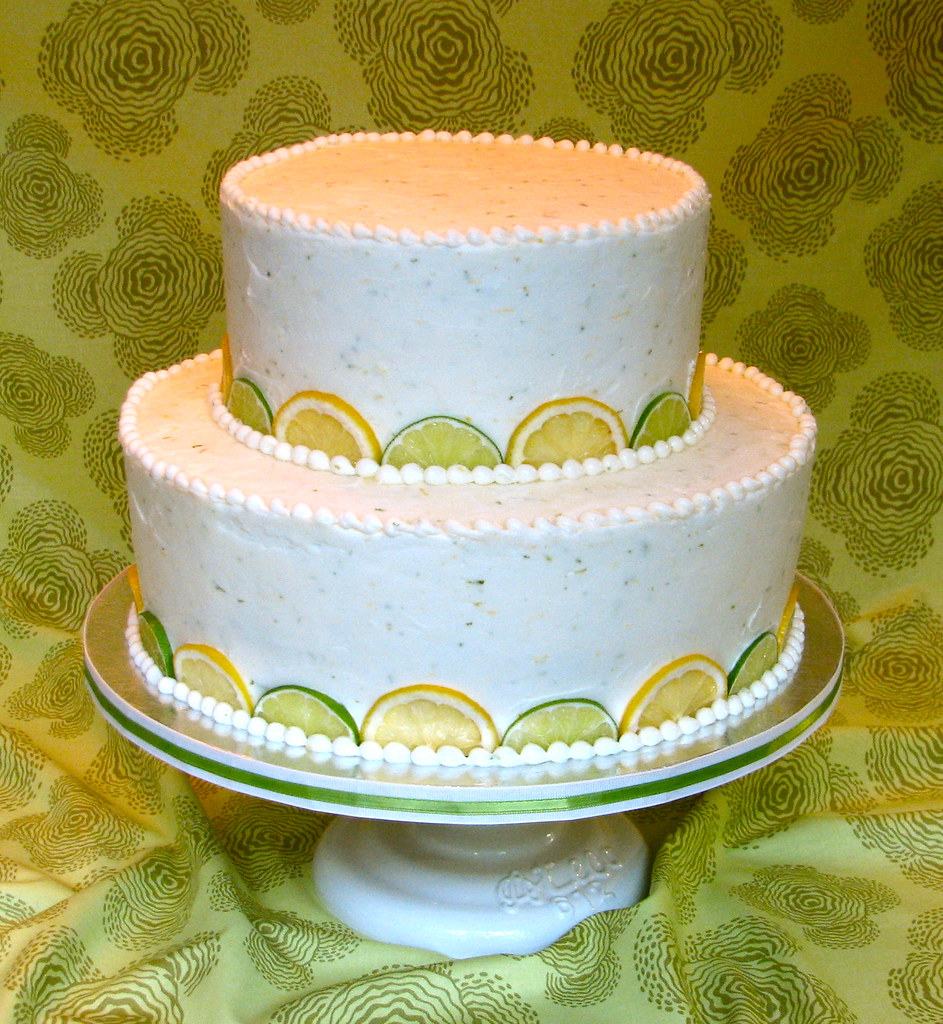 Fresh Lemon-Lime Wedding Cake | Simple and elegant: lemon bu… | Flickr