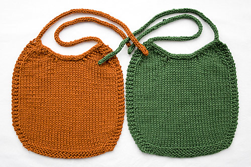 Stockinette Baby Bibs | by chavala
