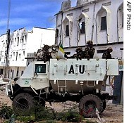 AMISOM troops under the banner of the African Union have been accused of deliberately bombing civilian areas of Mogadishu, including the Bakara market. Scores were reported killed on October 22, 2009. | by Pan-African News Wire File Photos