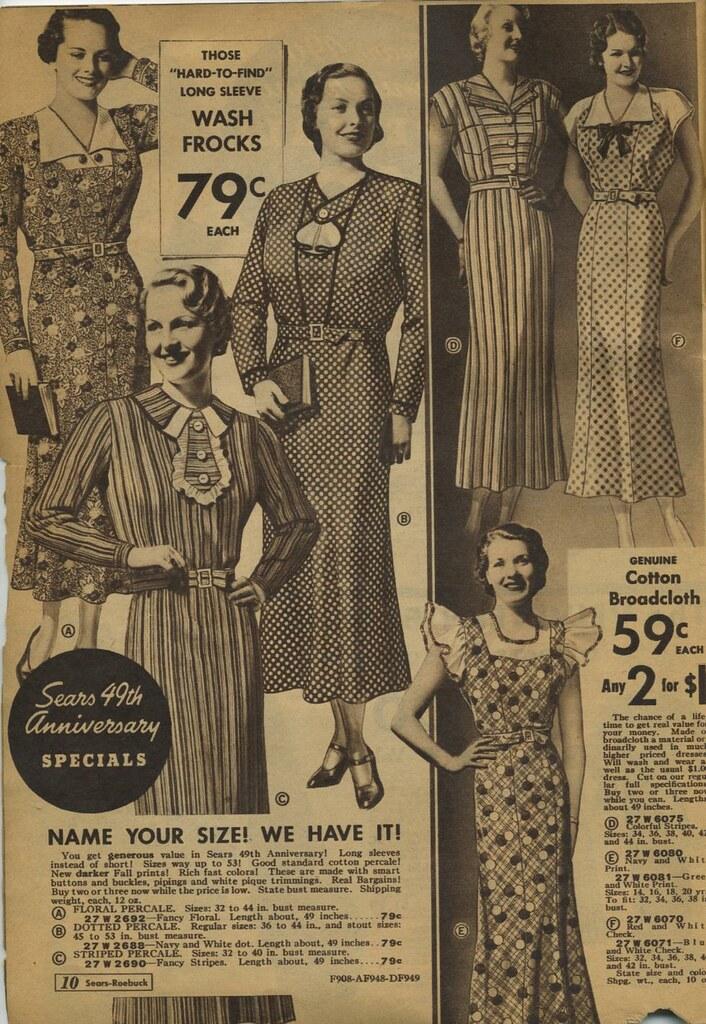 Sears Catalogue 1935 Plus Size Frocks Dresses Genibee Flickr