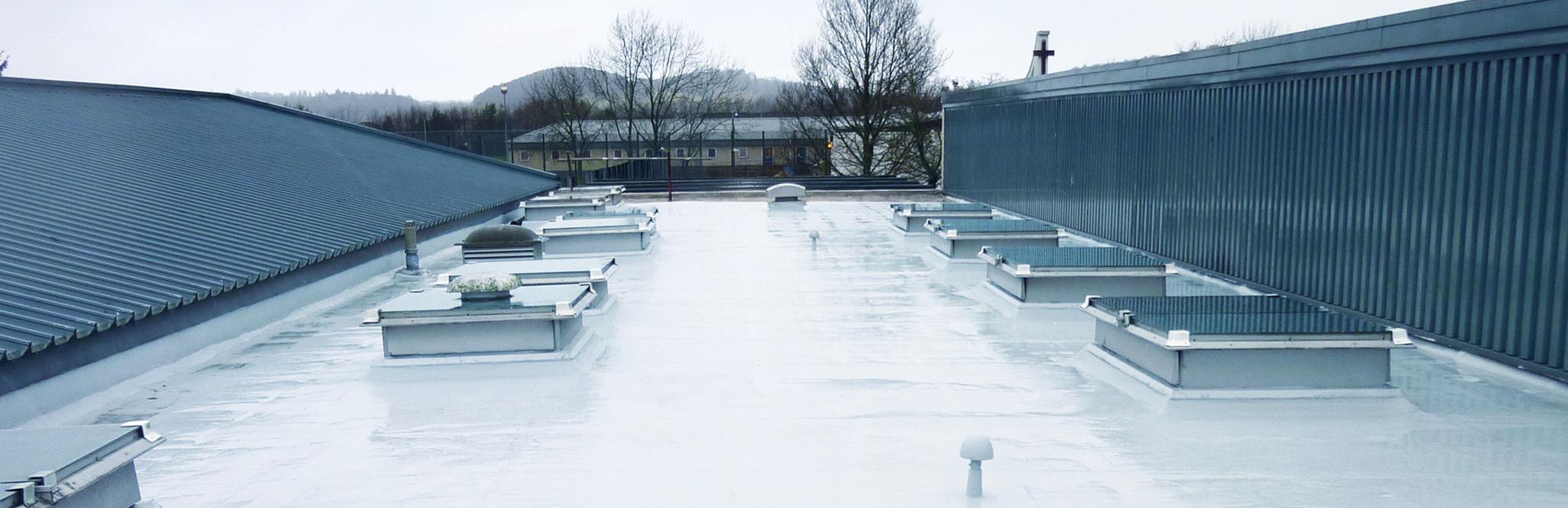 cubierta impermeabilizada con terminacion en aluminio
