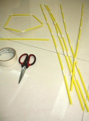 straw tower long sides and base done | by jimmiehomeschoolmom