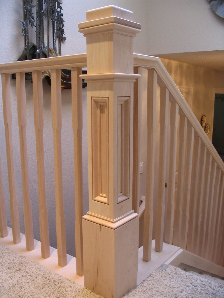 Maple Handrail Maple Box Newel Handrail And Balusters
