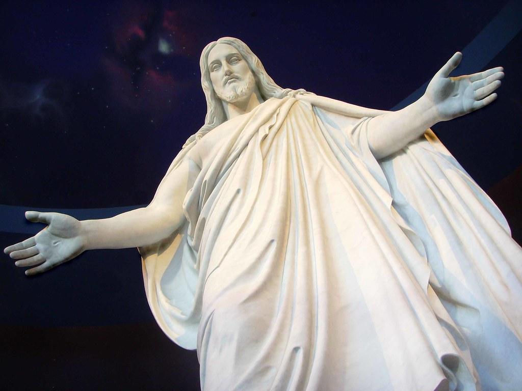 Jesus Christ Statue In Salt Lake City The Statue Of