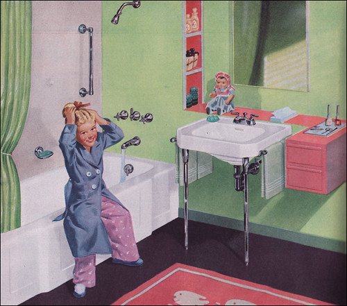1950s kohler bathrooms kohler had a series of cute kid for 50 s bathroom decor