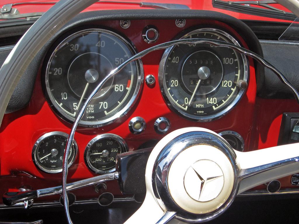 1961 Mercedes 190sl Roadster Gauges 140 Mph Speedometer