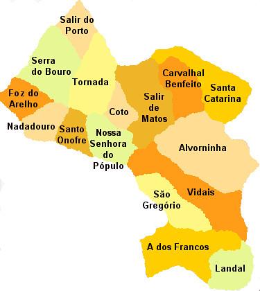 caldas da rainha mapa Concelho de Caldas da Rainha | Mapa das freguesias | Jorge Bastos  caldas da rainha mapa