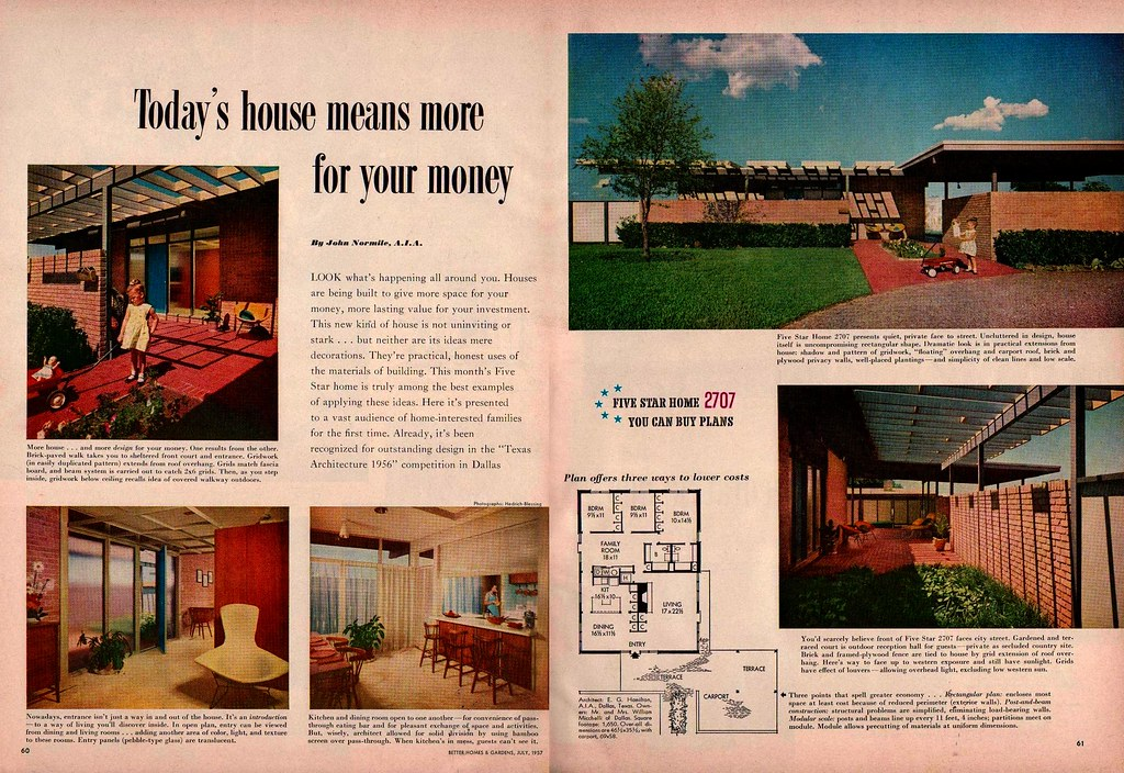 Five Star Home 2707 Better Homes And Gardens July 1957