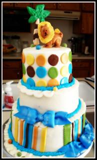 Cake Design Jungle Safari Lianes