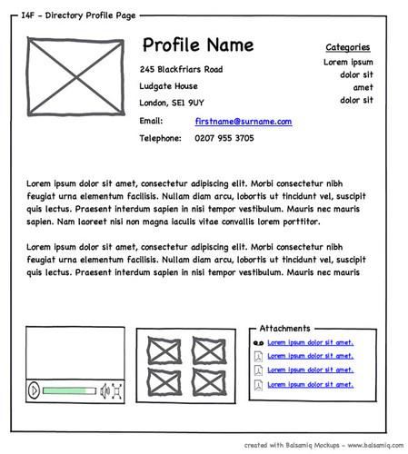 Free Online Wireframe Web Design