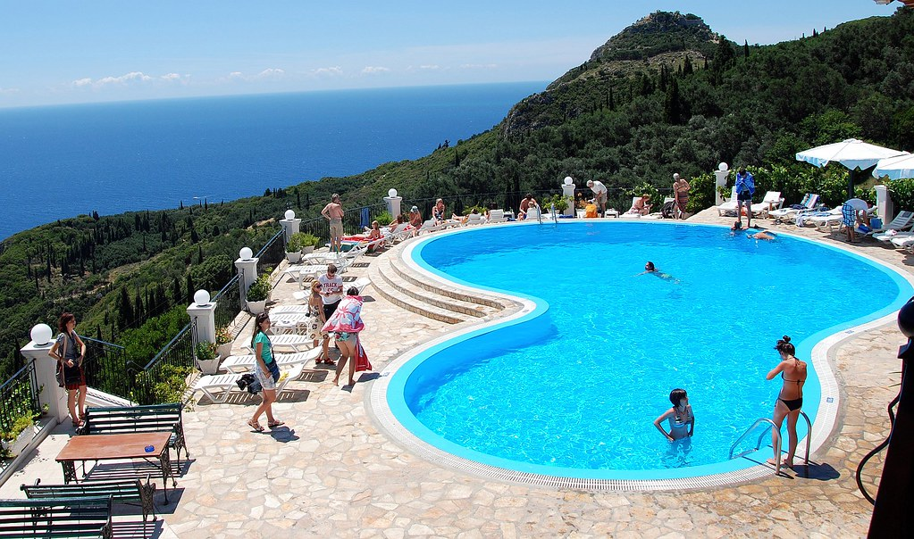 Corfu swimming pool bella vista paleokastritsa flickr for Garten pool korfu 1